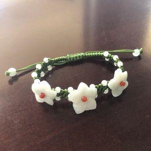 100% natural Jadeite Jade Handcrafted Bracelet